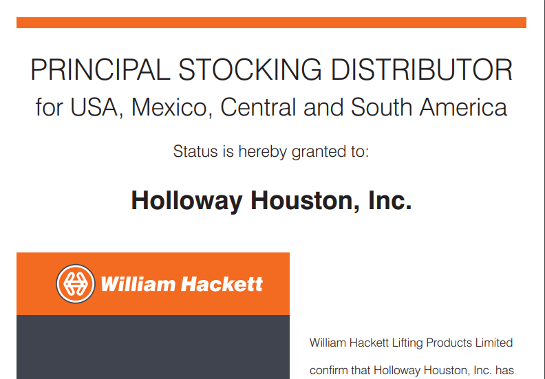 Principal Stocking Distributor